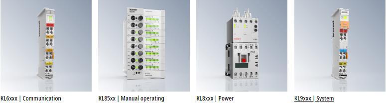 BECKHOFF Bus Terminal:KL6xxx Communication KL85xx Manual operating KL8xxx Power KL9xxx System